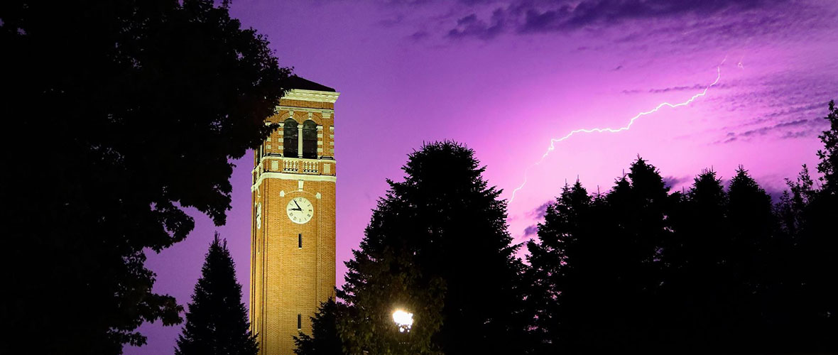 Lightning at the Campanile