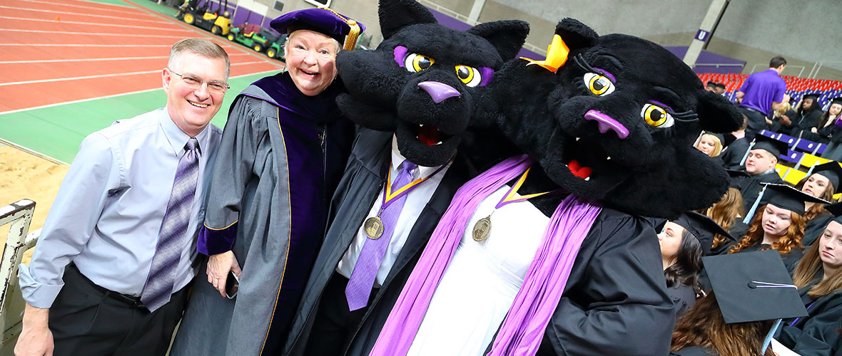 President with TK & TC at Commencement