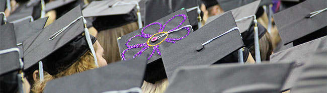 Mortar Boards at 2014 Commencement