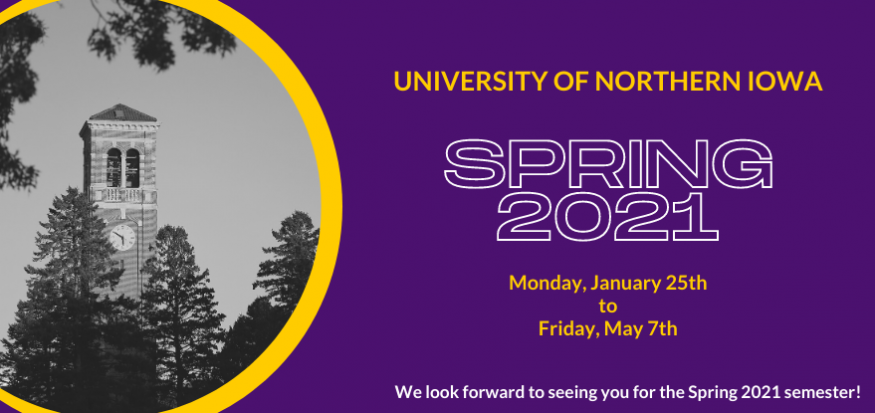 Spring 2021 Semester January 25 - May 7