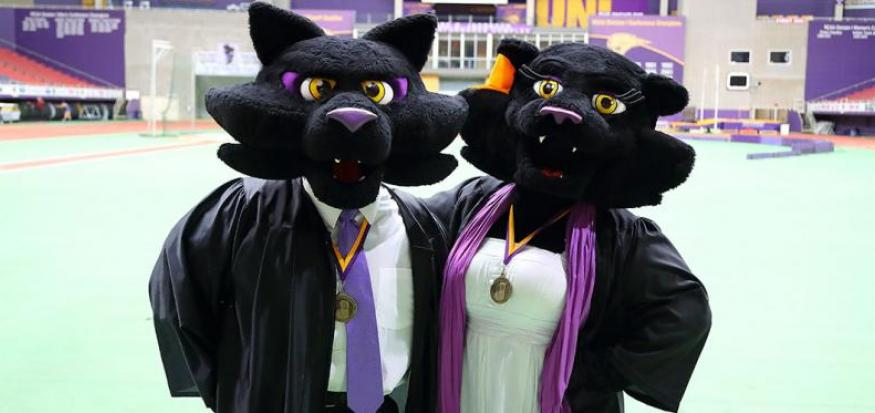 TC & TK at Commencement Ceremony